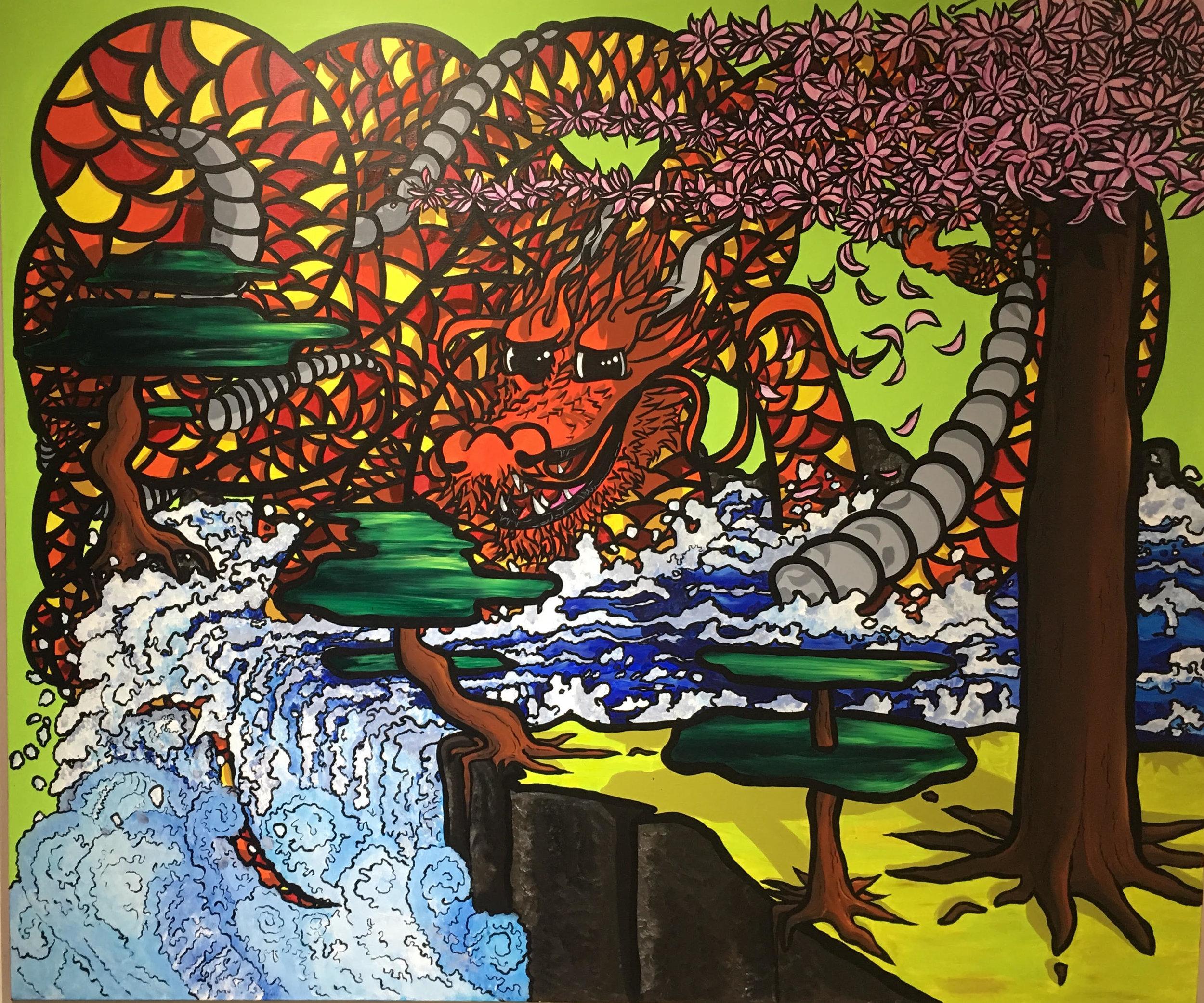 Multiple artists SAE,  Untitled , acrylic