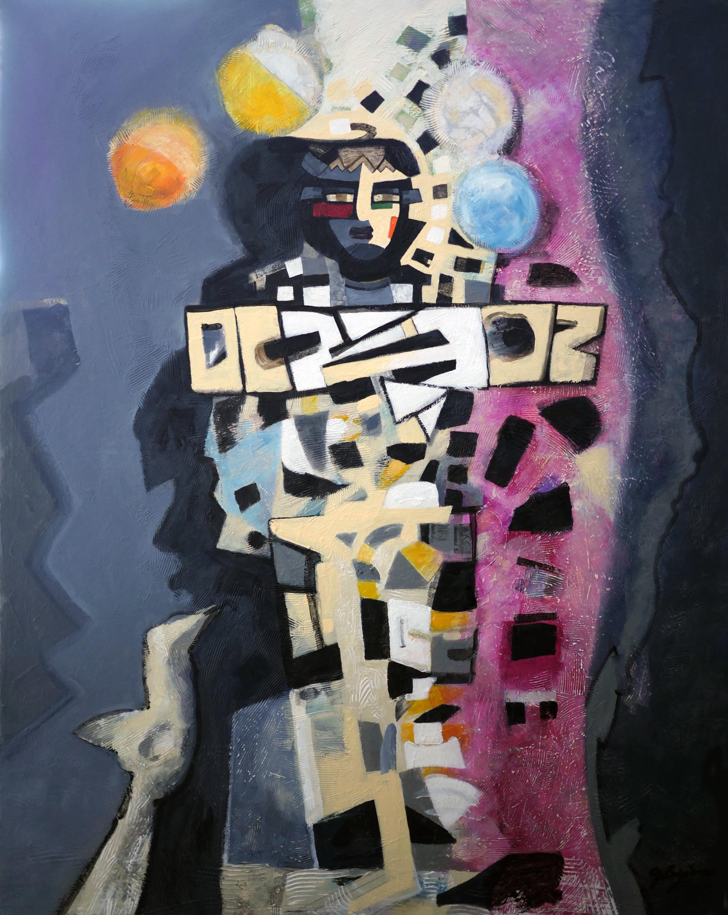 """Guillermo Bejarano, """"Cinco Mandos"""", Latino Art Museum"""