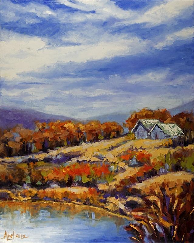 Charisse Abellana, Western Wilderness3. 24 x 30 Oil on Canvas. Metro Gallery