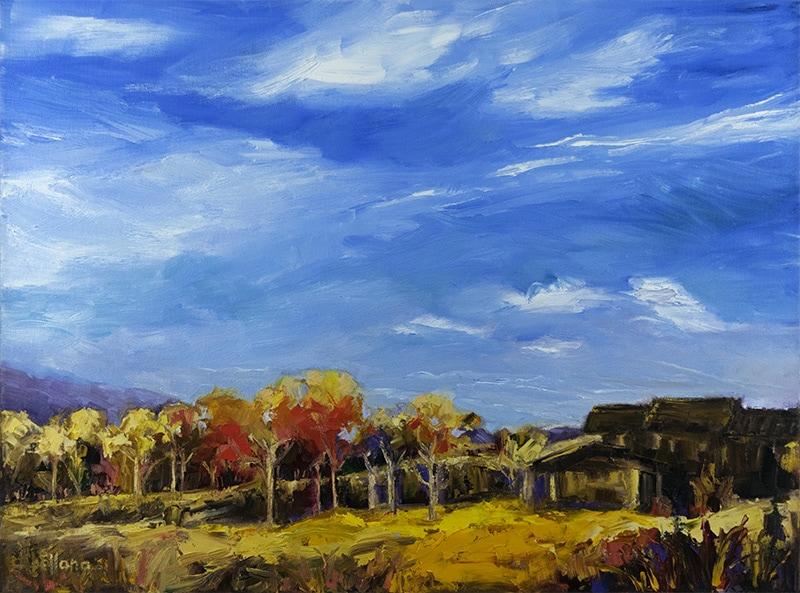 Charisse Abellana, Western Wilderness1. 18 x 24 Oil on Canvas. Metro Gallery
