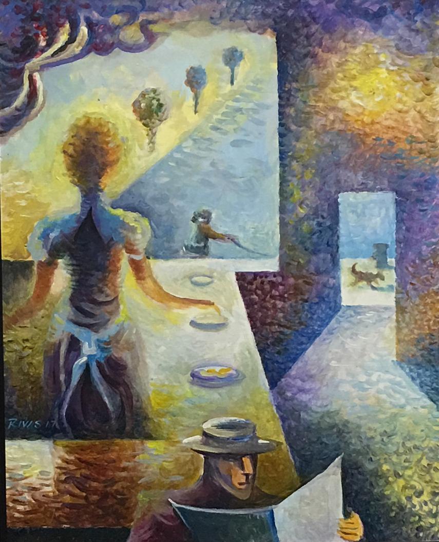 Rigo Rivas.  Inside, Looking Out . Latino Art Museum