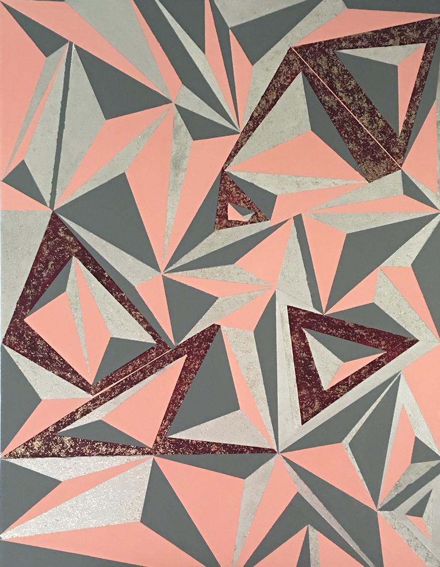 Hard-Edge 6-15-18 Acrylic on Canvas, 30x40