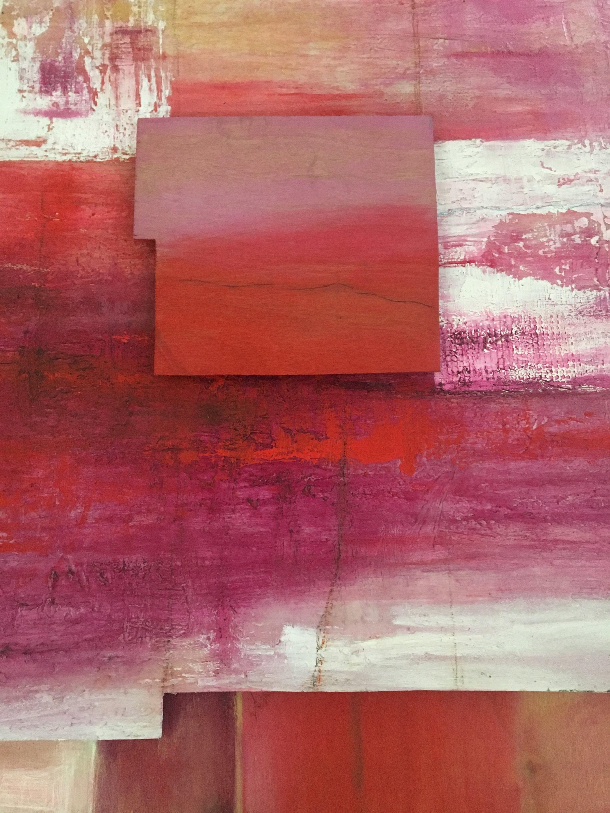 Carmen Teal, Leonors Portrait, Acrylic on Wood 45x45, 2014
