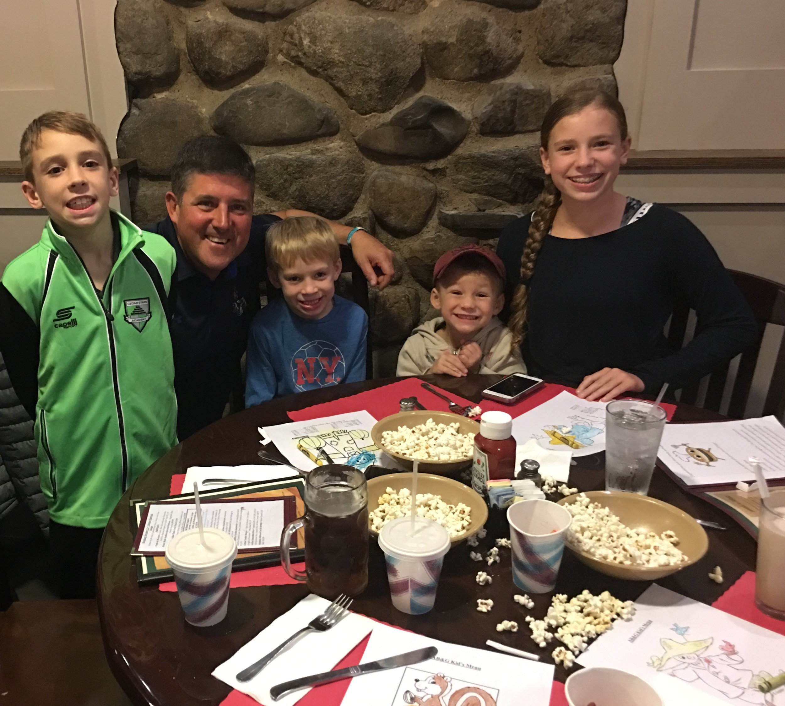 Our Burger of the Week winner, Drew Petrow and siblings, enjoyed AFEE's Community Night Out in the company of Chris Kunisch
