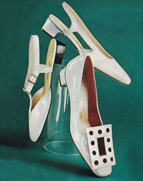 The late 60's-early 70's had such iconic style when it came to shoes. We love these over-the-top statement flats. ( is )