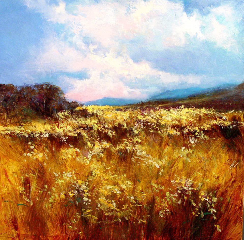 'Autumn Meadow' 50 x 50 cm