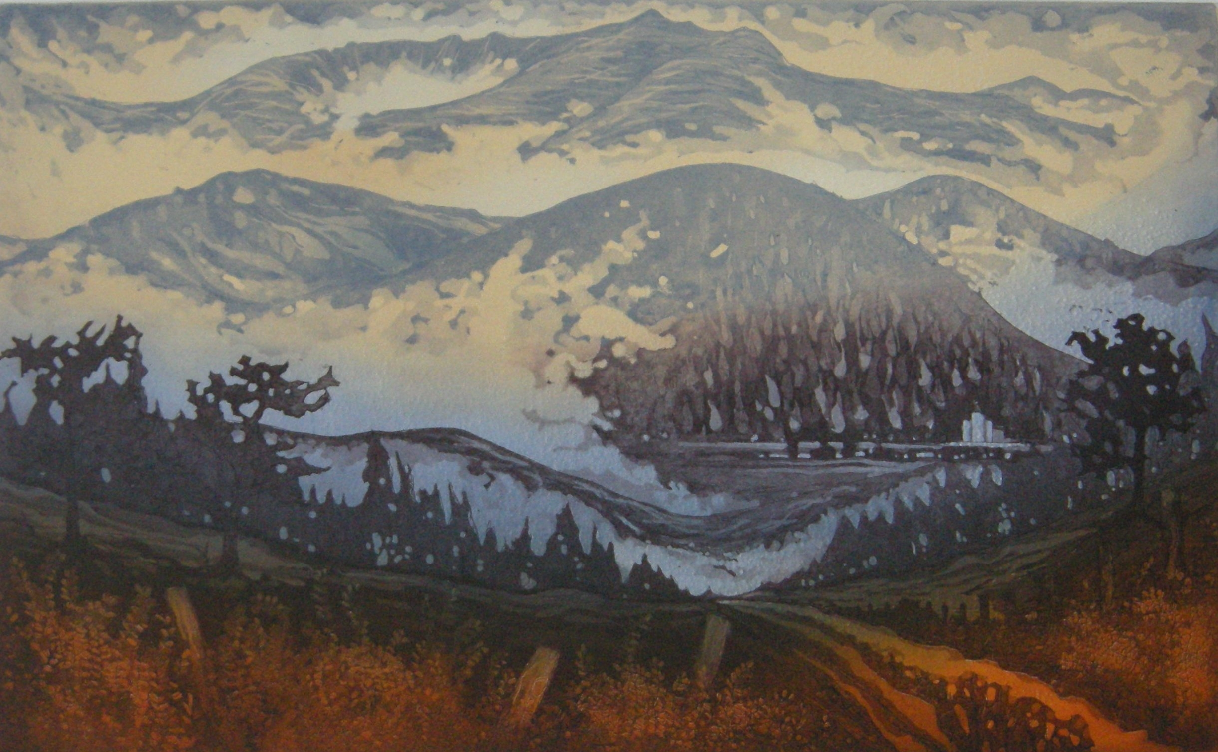 XXL Autumn mist, Lochnagar Aqua etch 45X28.JPG