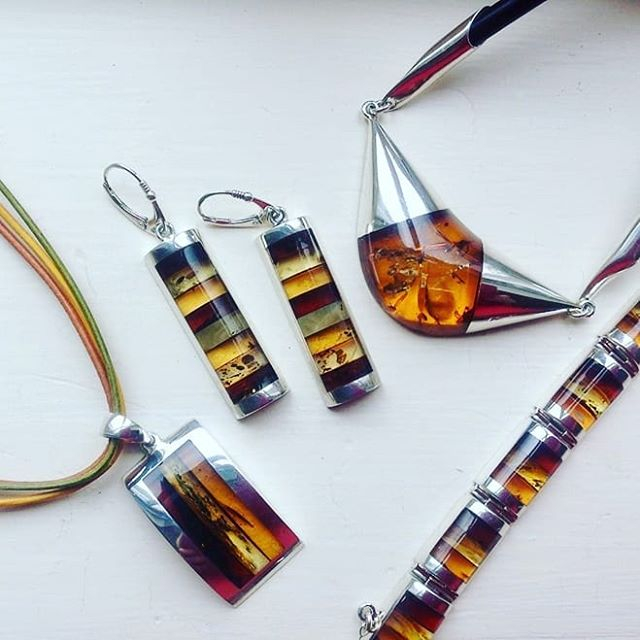 Delighted to announce the arrival of some stunning new handmade #amberandsilver #jewellery at the gallery.