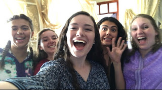 From left to right: Leena (Brooke and Marian's youngest host sister, Marian, me, Tasnim, and Brooke)