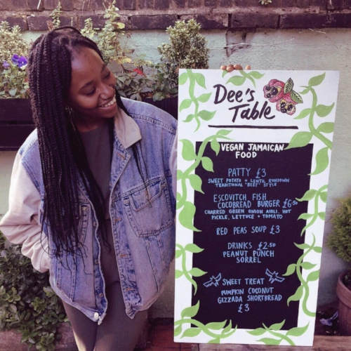 Denai also runs a modern vegan JAMAICAN food pop-up - follow her @deestable for events