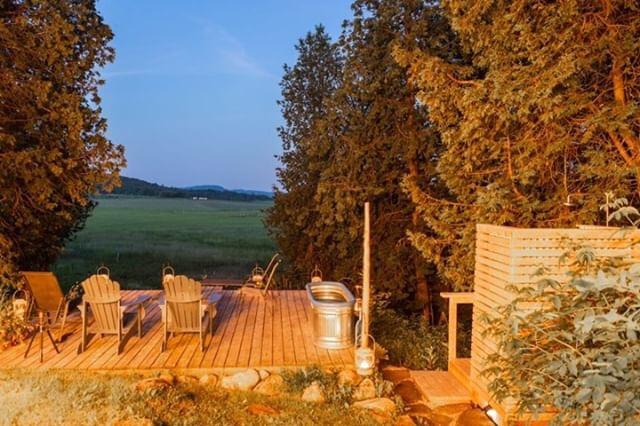 La terrasse privée - quelle vue!