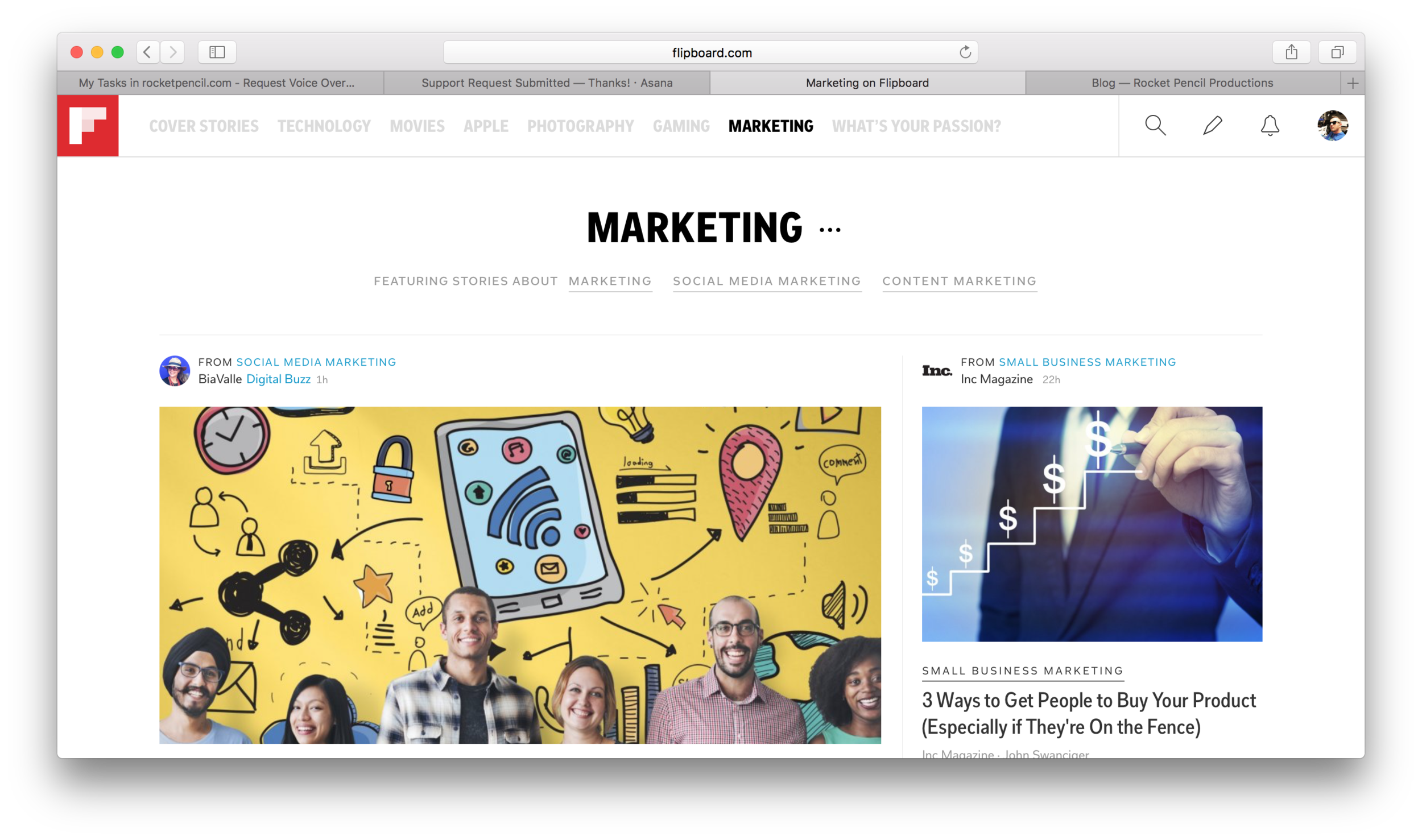 Marketing everything - served from the web.