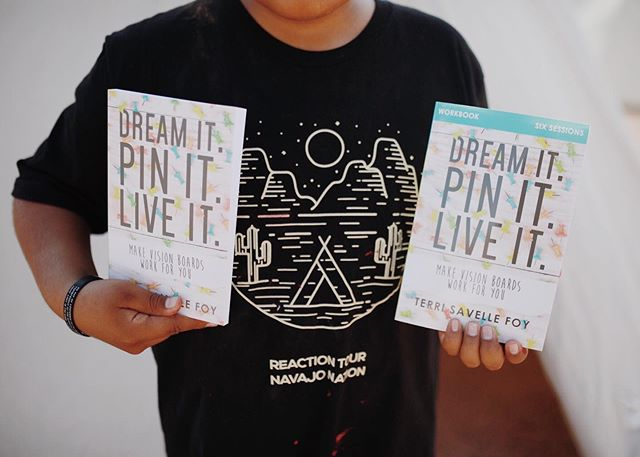 A big thanks to everyone who sowed into the Navajo tour. One ministry in particular that was a huge blessing to us was @terrisavellefoy who gave us the resources we needed to teach vision class. If you haven't gotten the chance to check out her ministry, it is life changing. The books shown here by one of our students are all about discovering God's vision for your life. We made vision boards at the gathering and all the students loved getting to dream big! Thank you #terrisavellefoy!