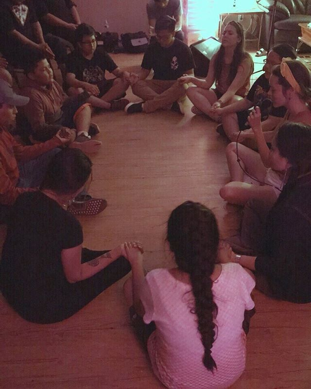 We know this photo isn't the highest quality but this moment was so special. One of our favorite RT memories. This was the last night we were together with our Navajo family and as a team, we just asked the Holy Spirit to move. And He did. We held hands and allowed Jesus to heal our hearts and minds. That night, we stayed in a place of worship for hours because the presence was so sweet and kind that we didn't want to leave. This is what we want to spend our whole lives doing. This is what Reaction Tour lives and breathes for. Helping people encounter Jesus in a real and tangible way.
