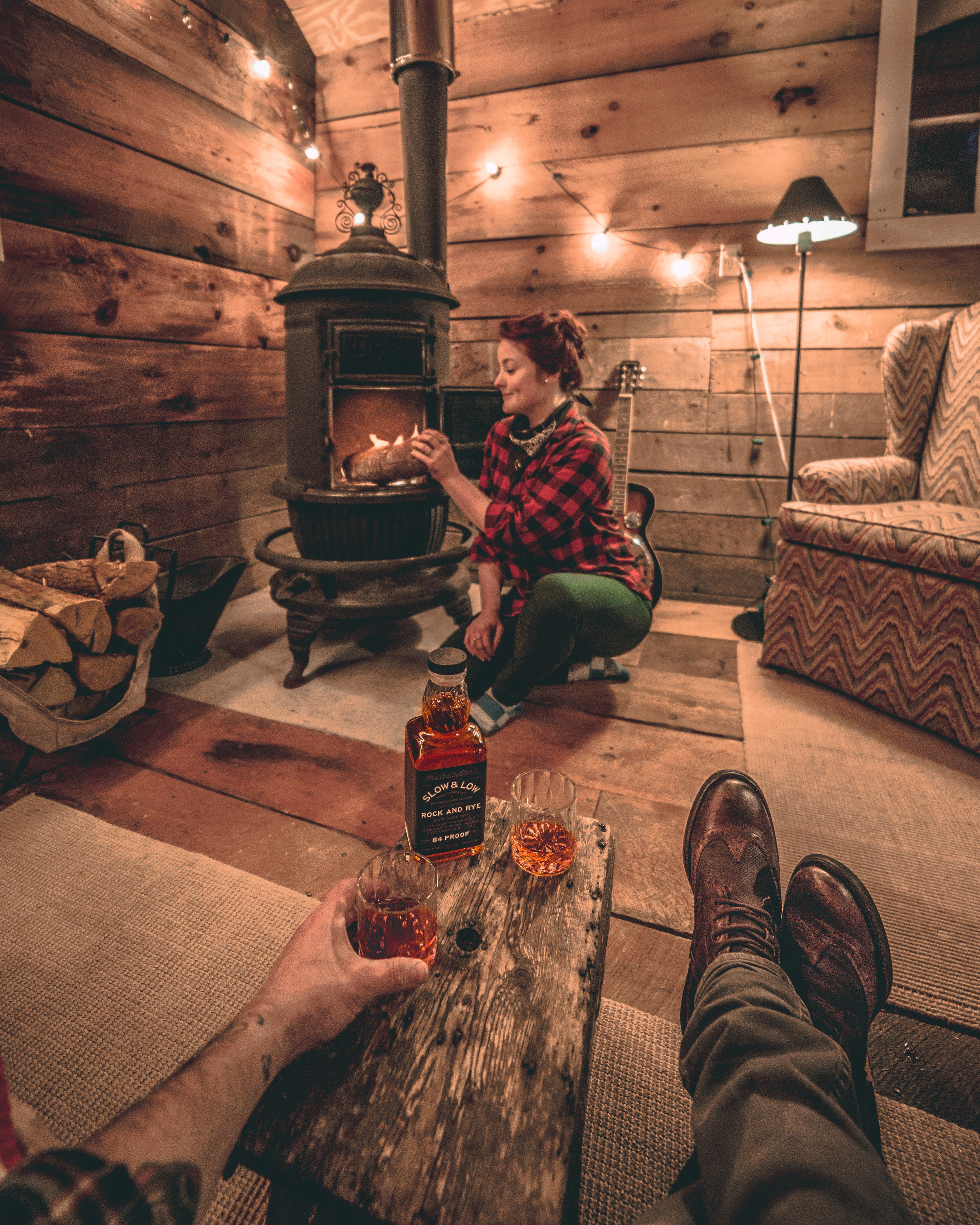 Hochstadter's Slow & Low Whiskey - Cabin themed content creation / Instagram collaboration
