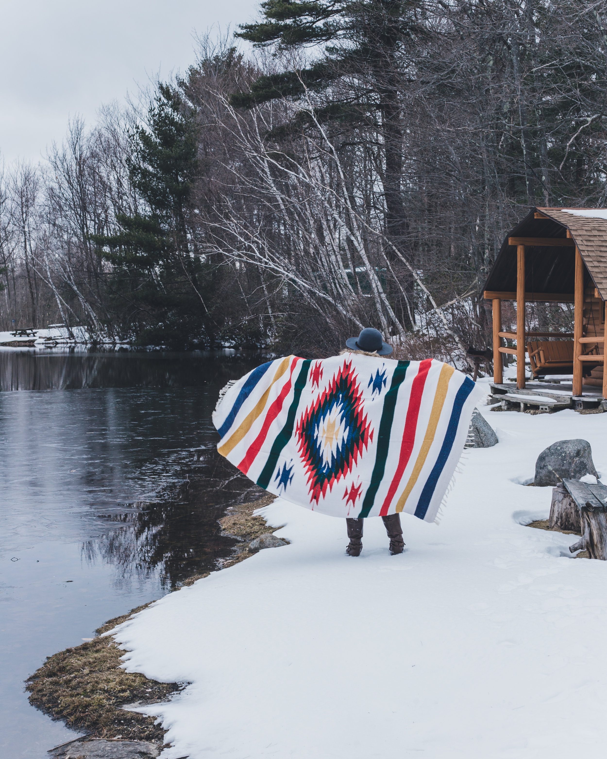 Tribe & True - White Aspen Blanket - Cabin themed content creation / Instagram collaboration