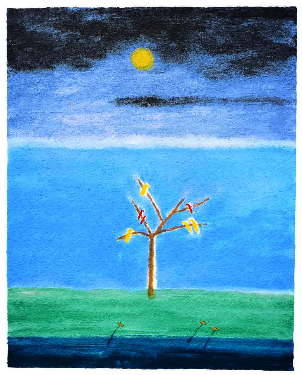 LOW Craigie Aitchison, Birds on a Tree, 2008.jpg