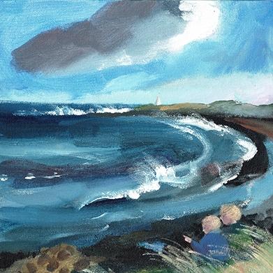 Brita Granstrom - Lindisfarne Shipwreck, Acrylic on canvas, 30 x 30cm.jpg