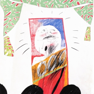 David Hockney, The Singer, 1963, Offset lithograph, 76 x 59.5cm.jpg