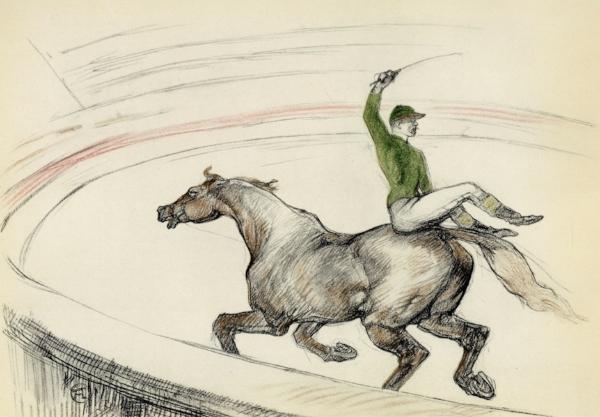 Henri de Toulouse-Lautrec, Jockey, Lithograph