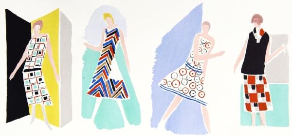 Sonia Delaunay, Fashion Designs, Pochoir