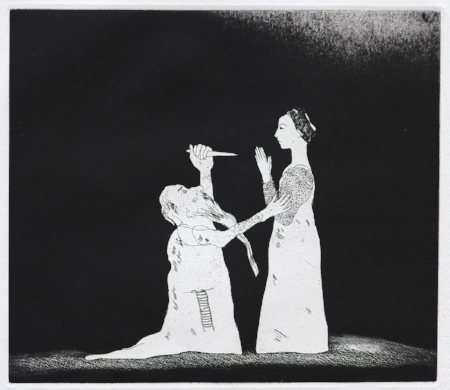HOCKNEY, David - Old Rinkrank Threatens the Princess, Etching with aquatint, 23 x 26.8cm.jpg