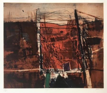 RAE, Barbara - Highland Fence, 1993, Etching, 39.7 x 45cm.jpg