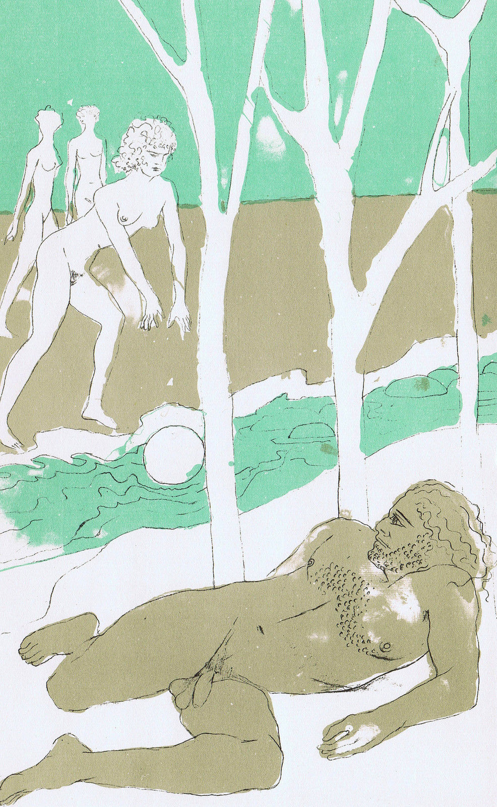 FRINK, E - Odyssey, When the time came for Nausicaa to set out for home Athene arranged for Odysseus to wake up.jpg