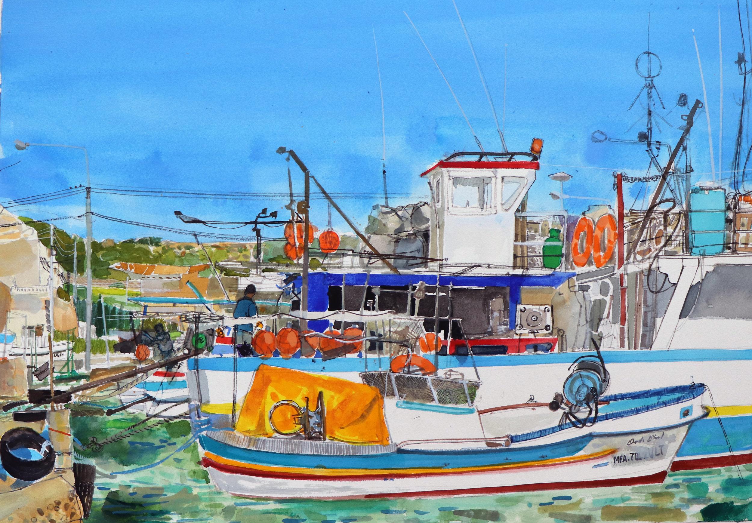 Fishing boats, Marsaxlokk, Malta