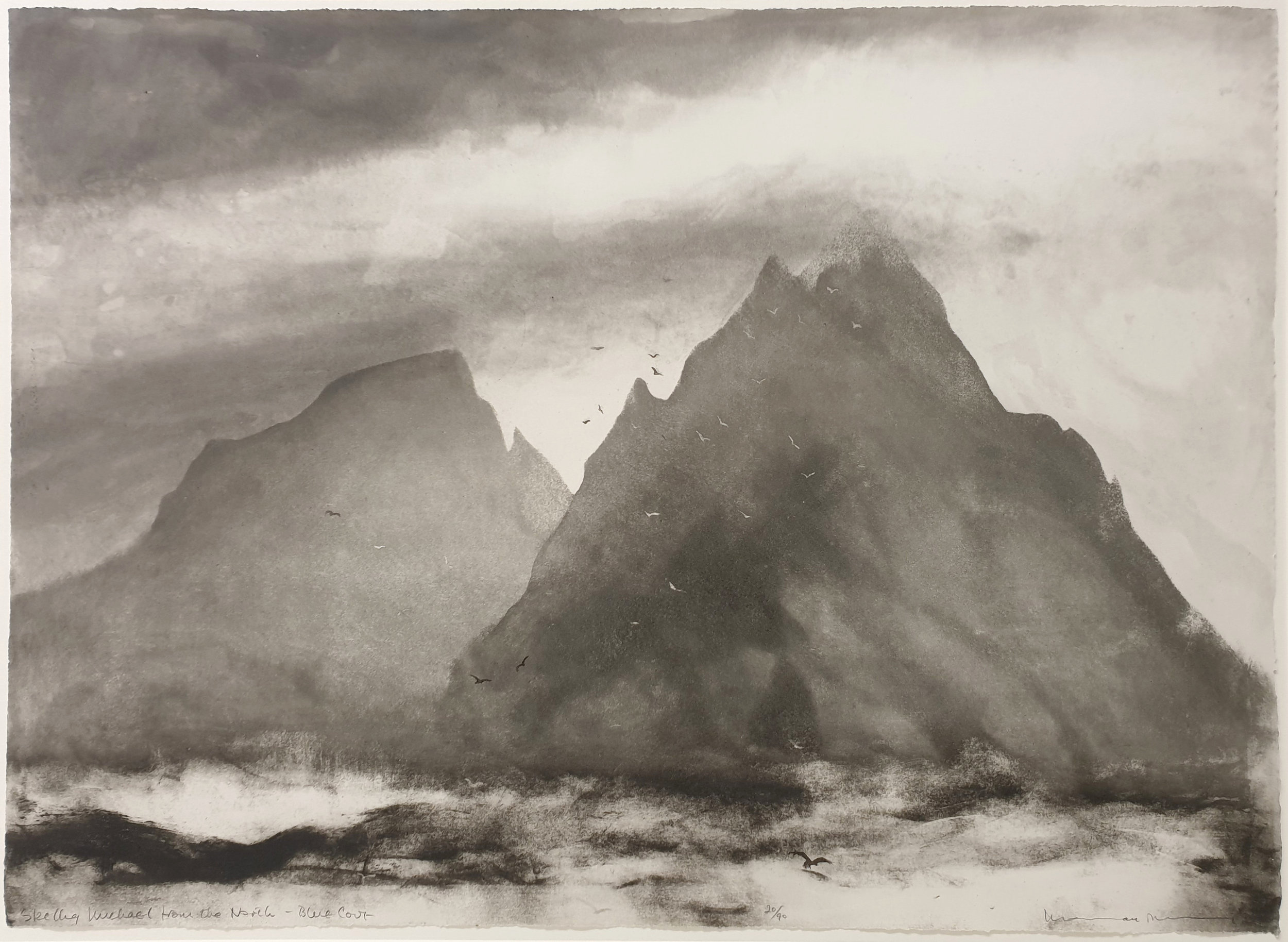 Skellig Michael from the North,  Etching, Norman Ackroyd RA