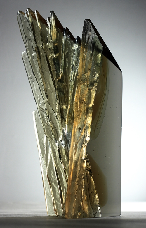 Cliff Face CRH298,  Cast glass, Crispian Heath
