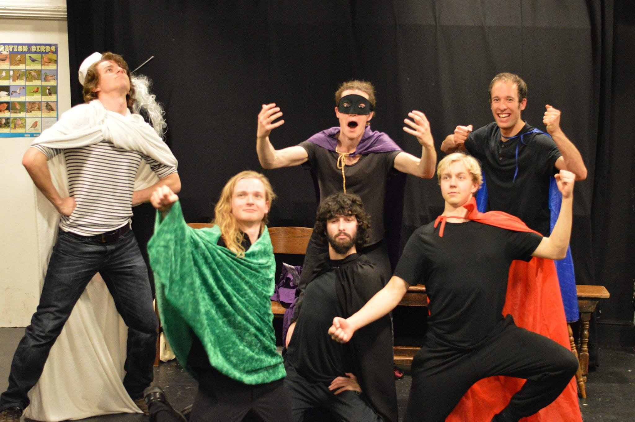 ASEMBLE Cast -  Top row, left to right: Ed Elcock (Director), Alex O'Bryan Tear, Michael Conterio.  Bottom row, left to right: Benjamin Dobson, Joel Lipson and myself