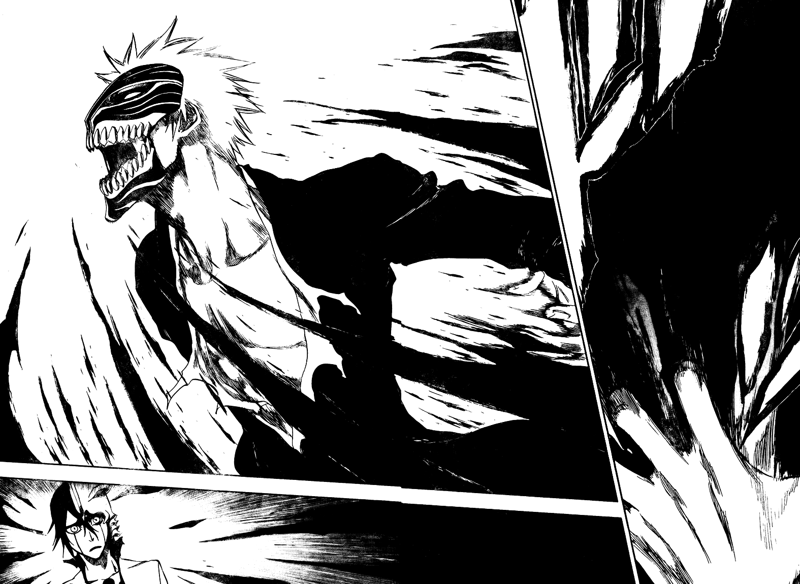 A panel from the manga Bleach