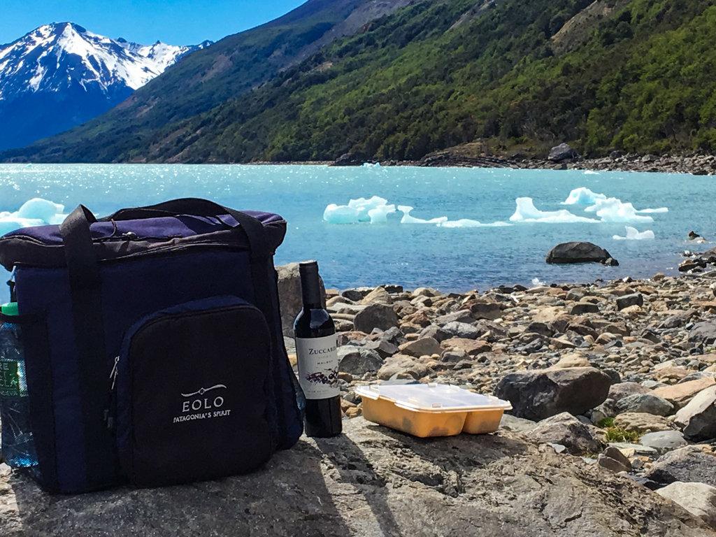Almoço com vista para o Glaciar Perito Moreno