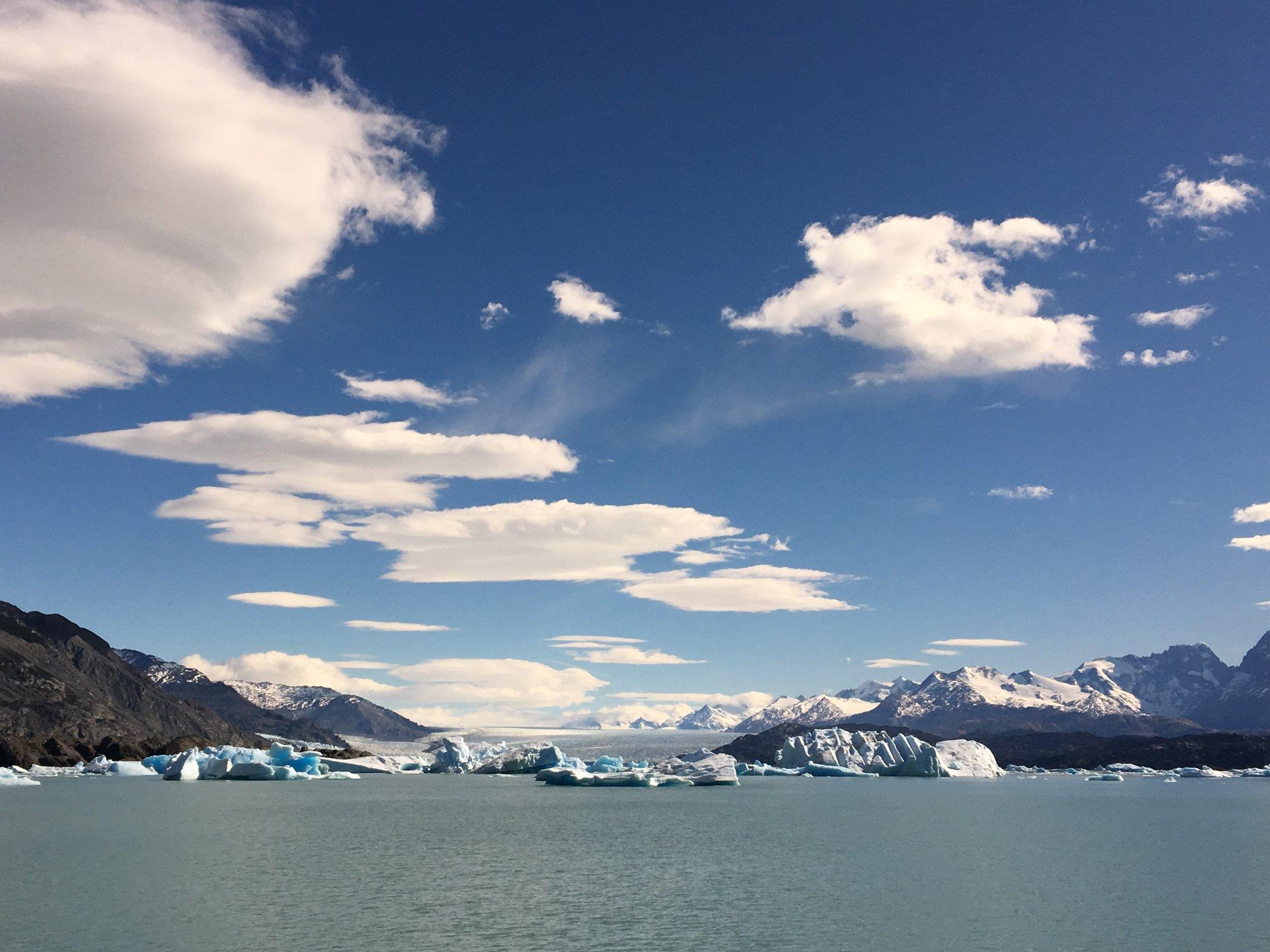 Lago Argentino e o Glaciar Upsala.