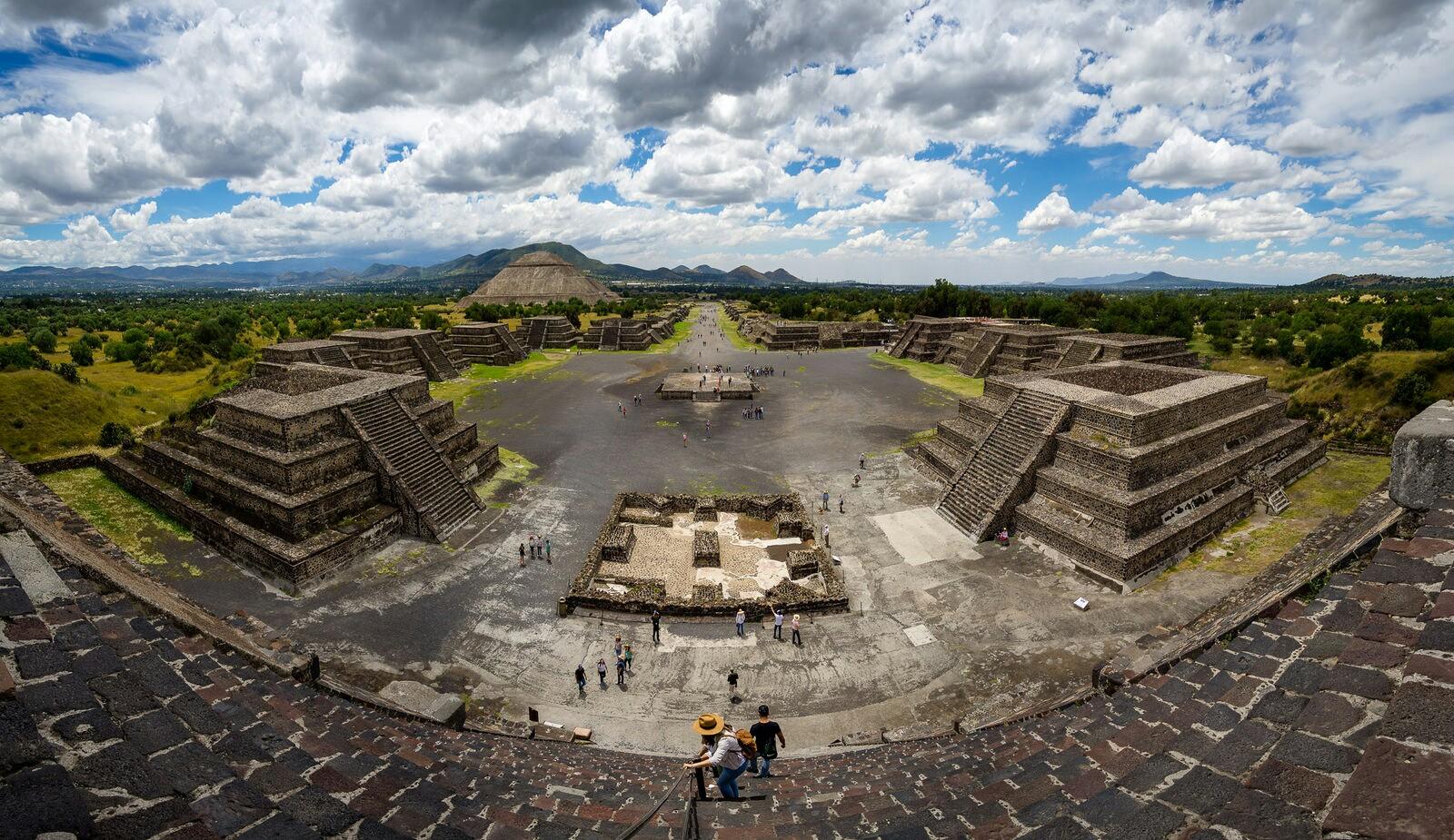 Ruínas de Teotihuacán, México.