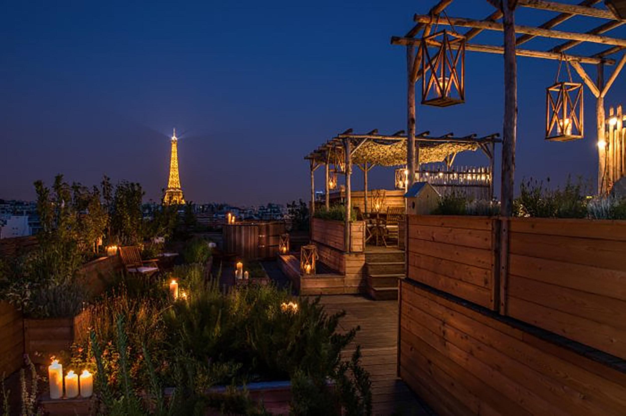 Rooftop do Hotel Brach, Paris.