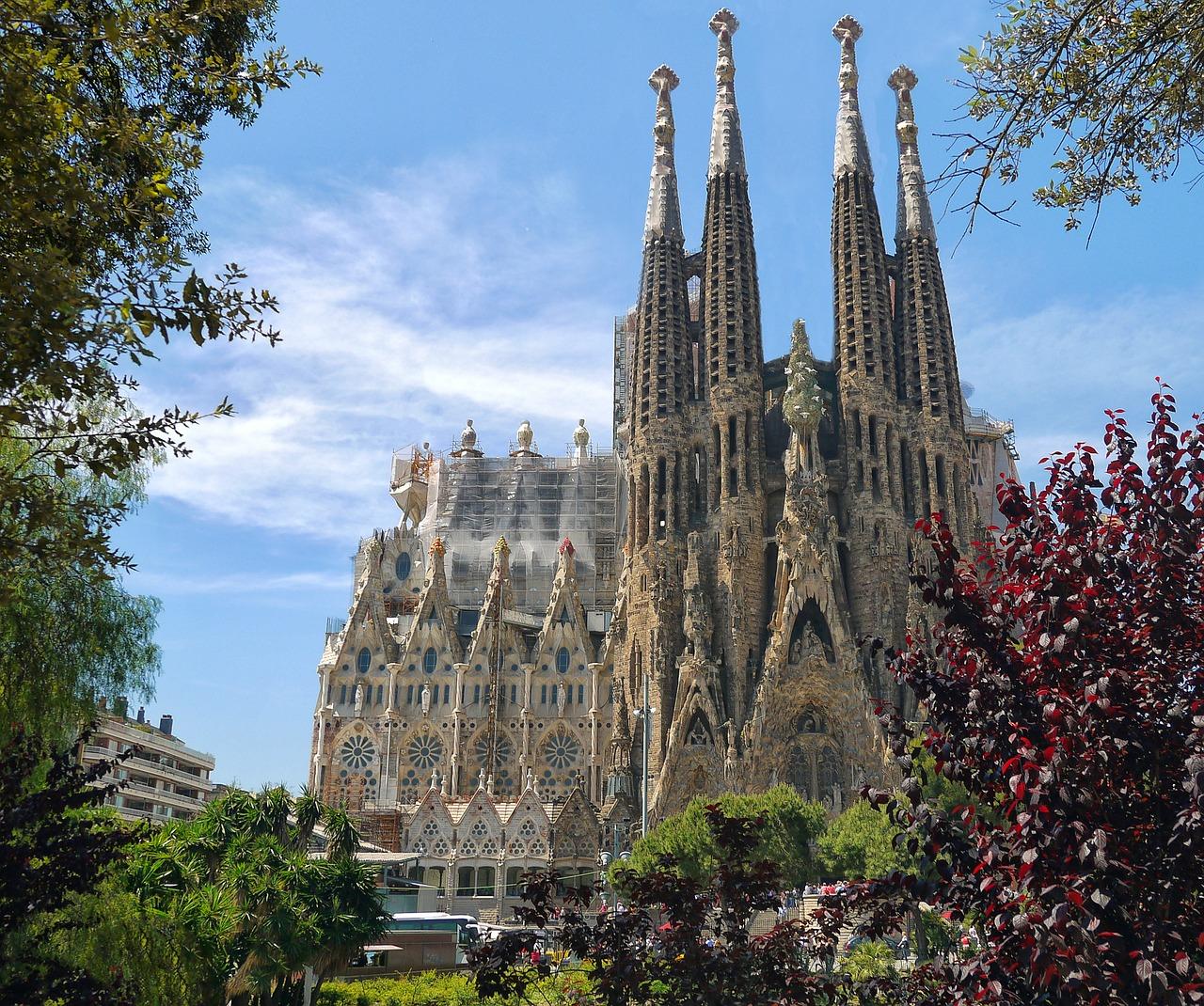 Igreja da Sagrada Família, Barcelona, Espanha.