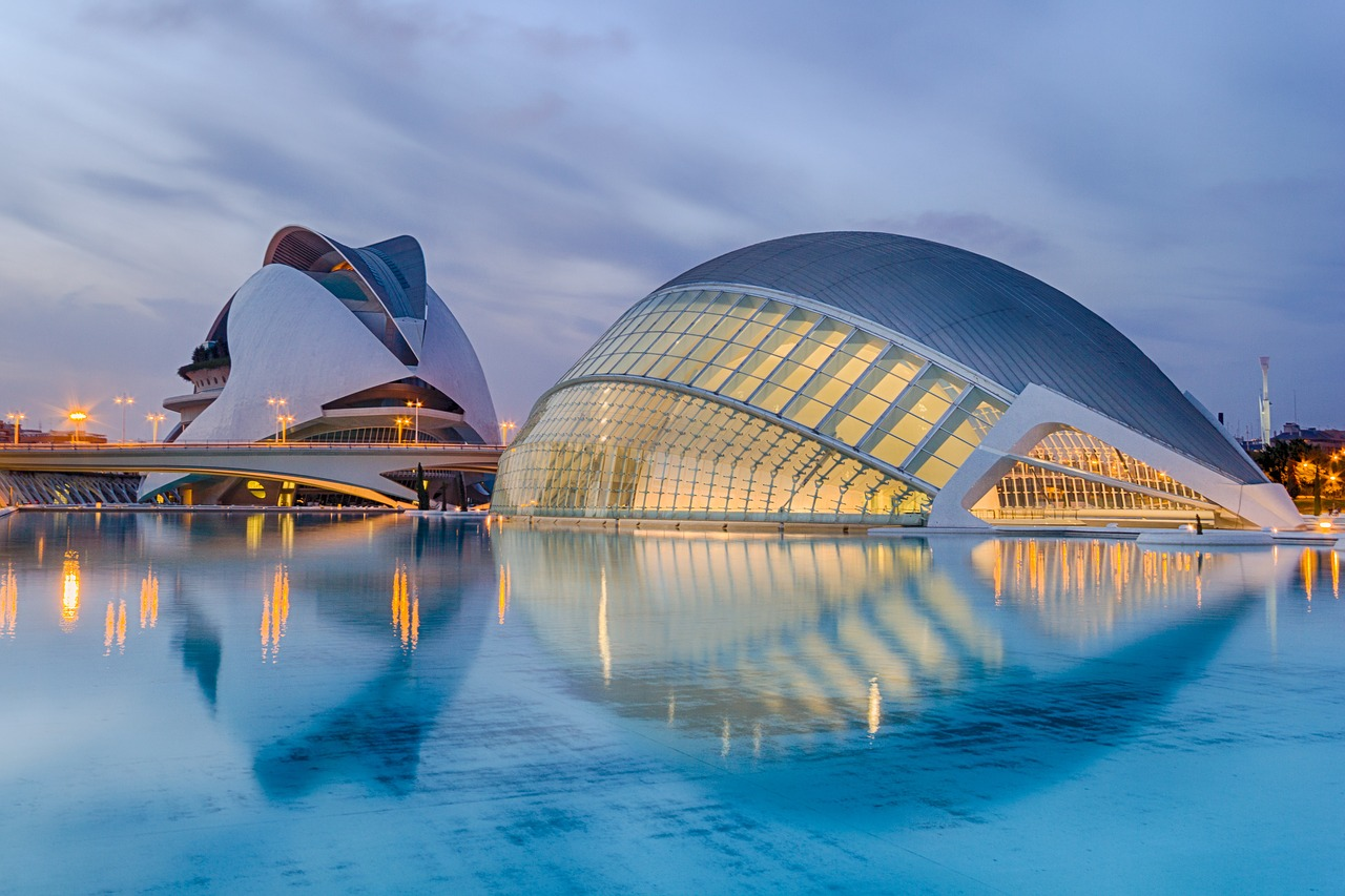 Cidade das Artes e da Ciência, Valência, Espanha.
