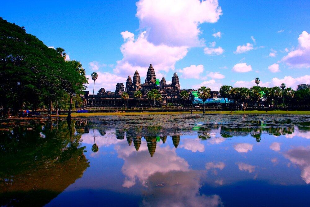 Ruínas de Angkor Wat, Camboja.