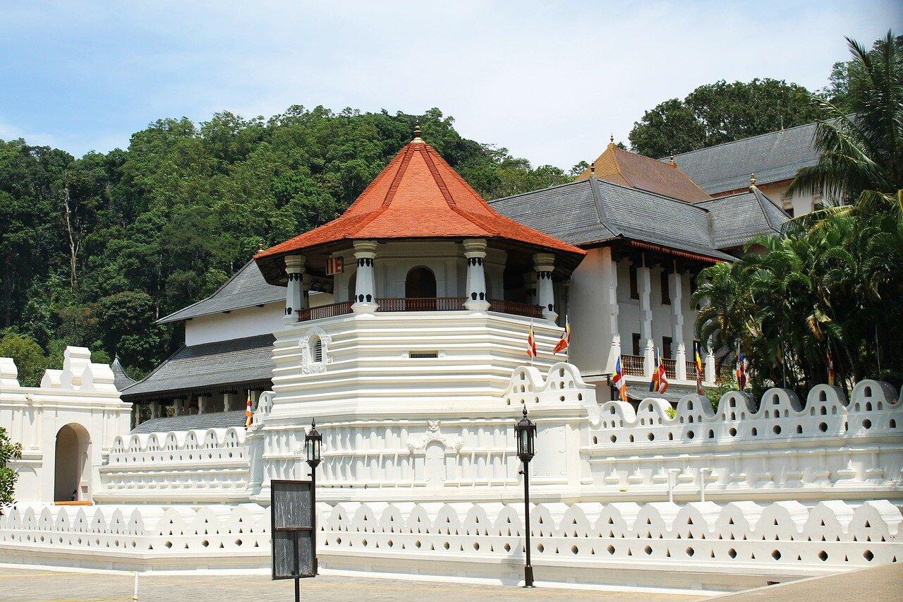 Templo em Kandy, Sri Lanka.