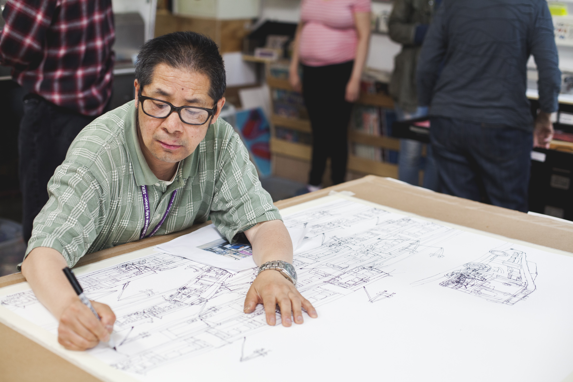 Creativity Explored artist Andrew Li