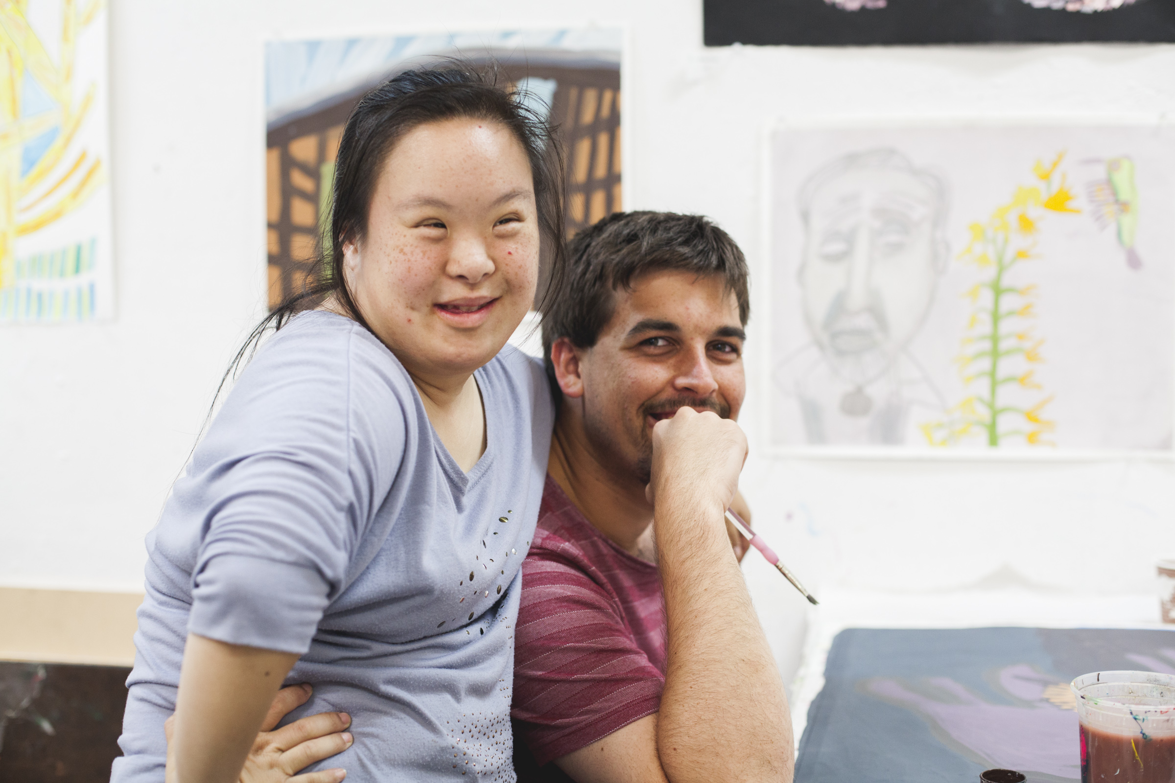 Creativity Explored artists Kathy Wen and Ian Adams