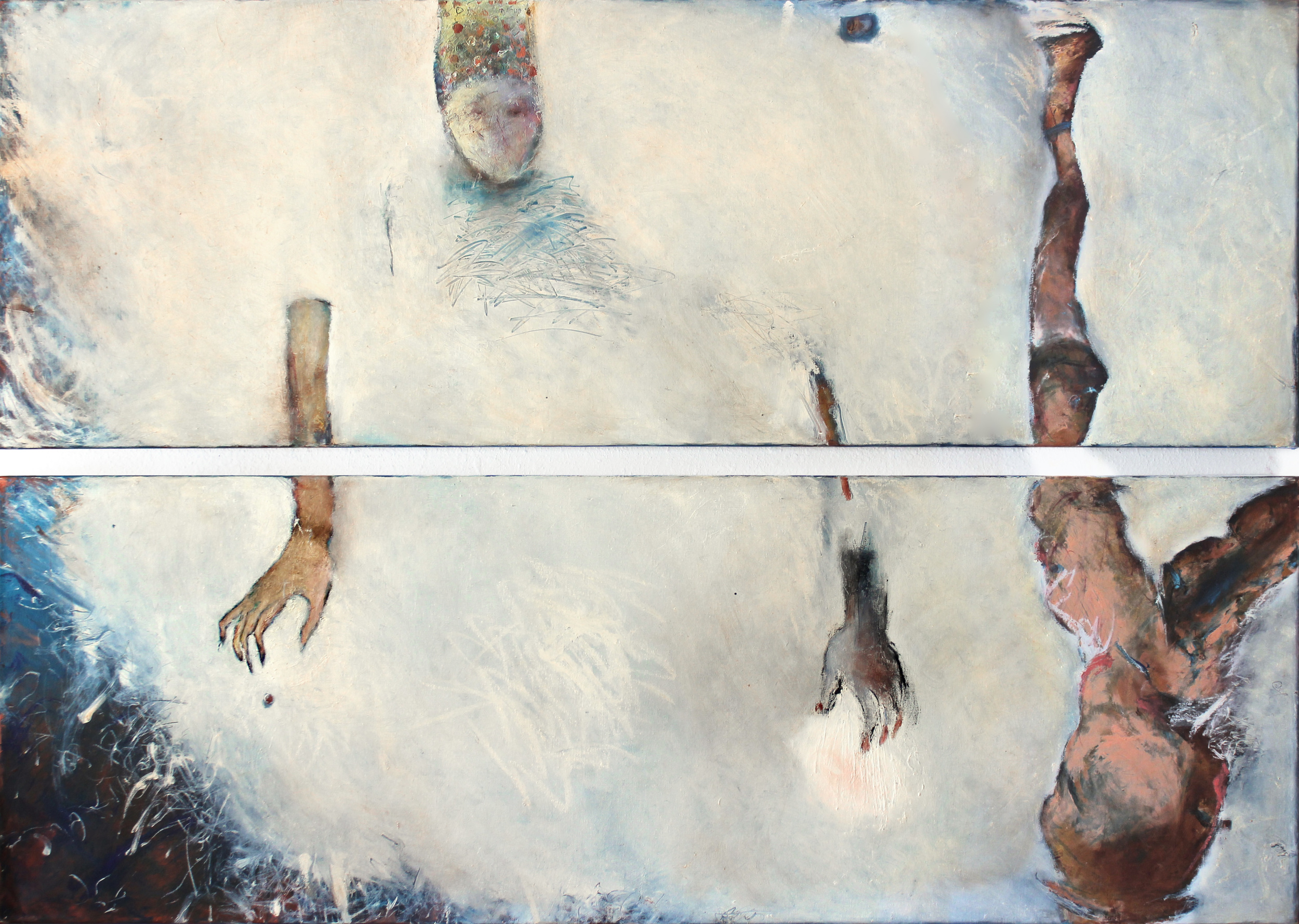 3..Angel of Blue. oil on canvas. 40x60 diptych. 2014.jpg
