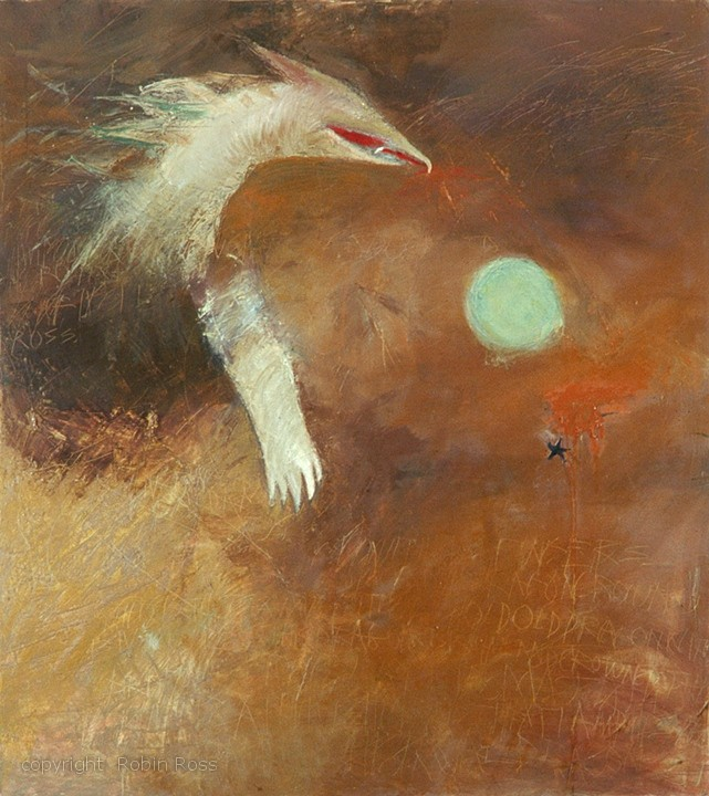10. from ANIMAL POSTURES _ Brian Ginder as THE DRAGON. oil   on canvas. 54x48.jpg