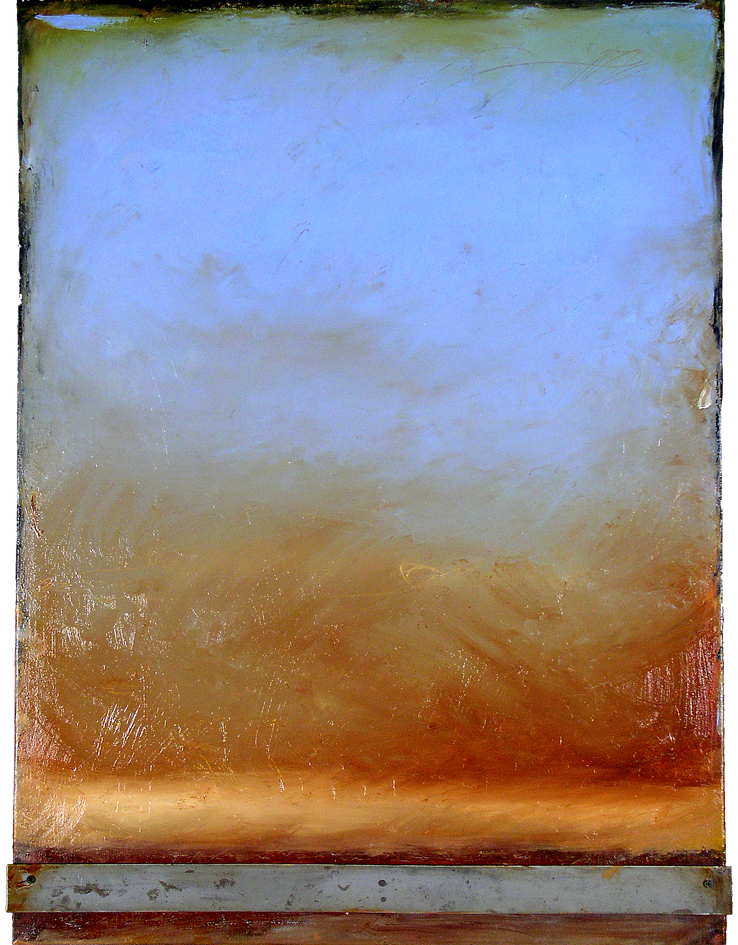p6 . B112. oil on canvas with attached metal.  40x30.2005.jpg
