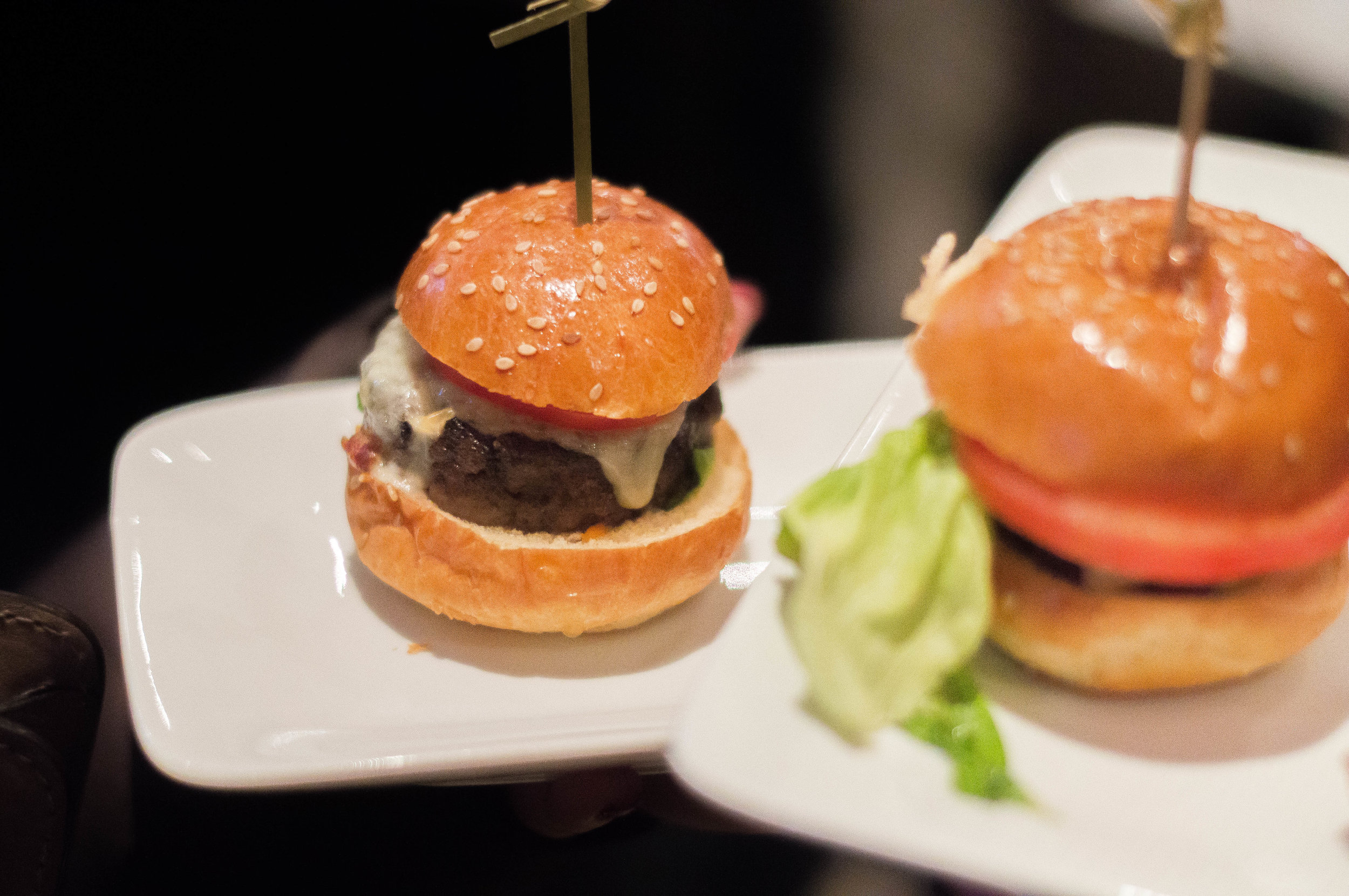 Beef sliders from Village Whiskey