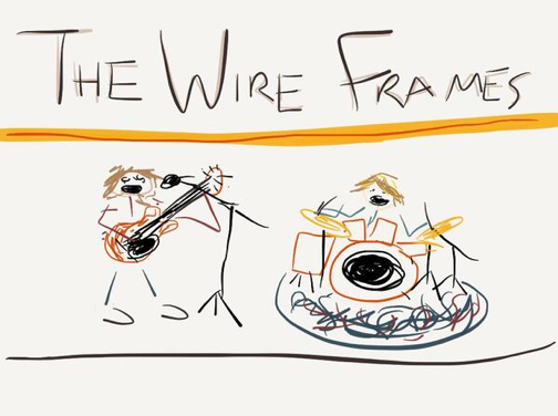 """The Wire Frames """"Paper"""" app sketch"""