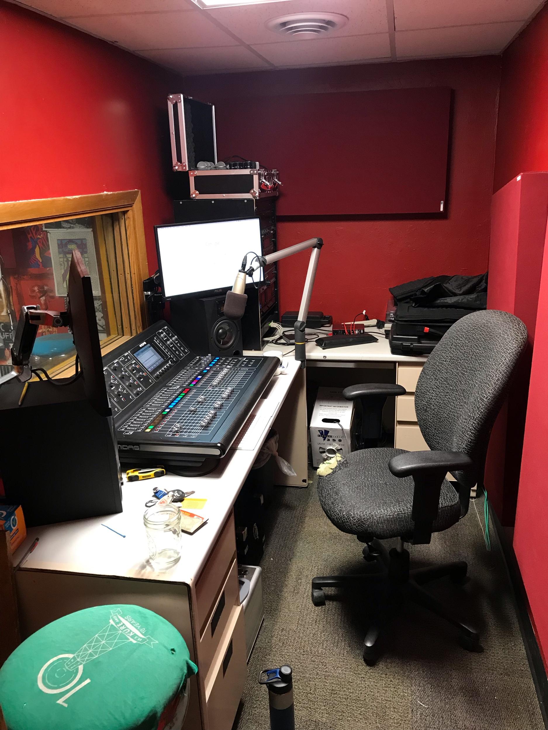 88.5 KURE Control Room