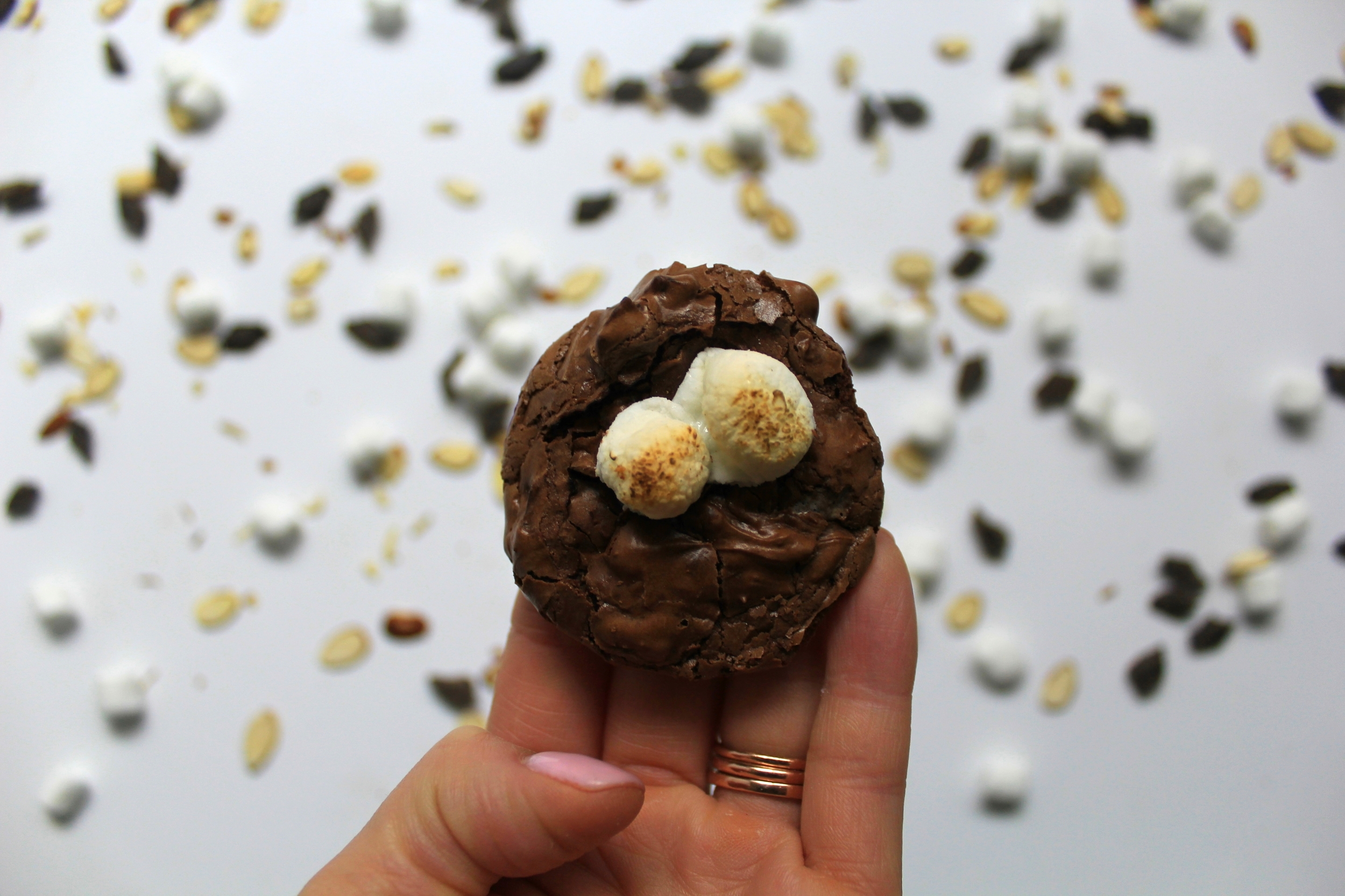 flourless rocky road cookies